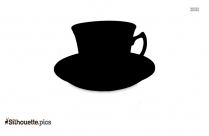 Teacups And Saucers Teaware Illustrtion Silhouette