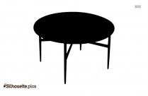 Black And White Tulip Table Clip Art