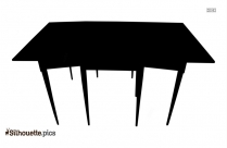 Dining Table Silhouette Vector Image