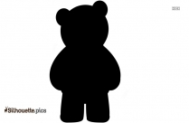 Teddy Bear Doll Silhouette For Download