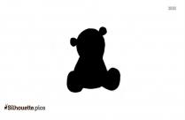 Teddy Bear Silhouette Image Vector