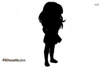 Dora Pointing Silhouette