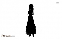 Teenage Girl Silhouette Background