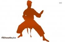 Karate Kick Silhouette Free Vector Clipart