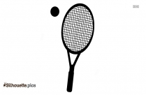 Tennis Racket Clipart Black And White
