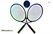 Tennis Racket Silhouette Clipart Picture