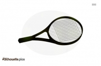 Tennis Racket Silhouette