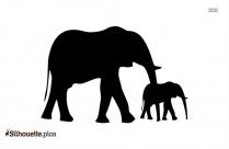 Baby Elephant Silhouette Icon, Elephant Vector Image