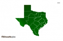 Texas Silhouette Vector And Graphics