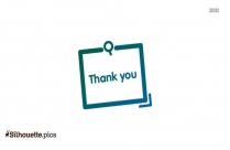 Thank You Card Silhouette, Gratitude Icon Background