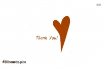 Thank You Word Art Silhouette Image