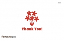Free Clipart Thank You With Rose Silhouette