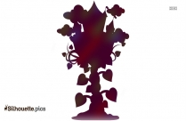 The Beanstalk From The Jack And The Beanstalk Silhouette