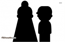 The Bride And Groom Cartoon Character Silhouette