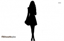 Black Short Gown Silhouette Image