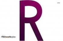 The Letter R Free Clip Art Silhouette