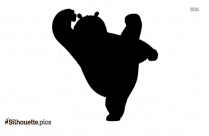 The Panda King Sly Cooper Silhouette Vector