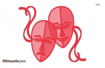 Theatre Masks Clip Art Silhouette