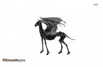Thestral Drawing Silhouette