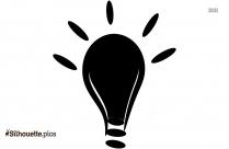 Thinking Light Bulb Guru Silhouette