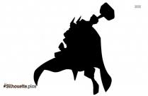 Superhero White Cape Silhouette
