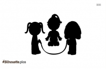 Boy And Girl Clipart Silhouette