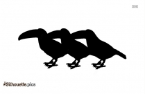 Birds Cartoon Silhouette Background