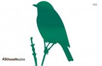 Cartoon Thrush Bird Silhouette