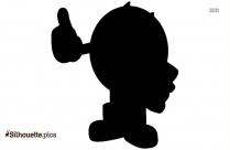 Fingers Crossed Emoji Silhouette