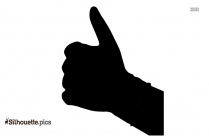 Old Lady Thumbs Up Symbol Silhouette