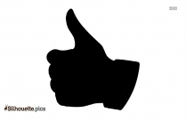 Thumbs Up Silhouette Illustration