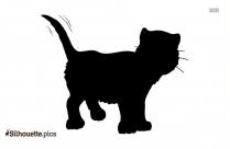 Blue Cartoon Cat Silhouette