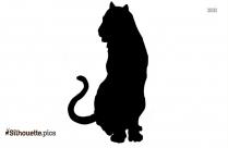Cartoon Cheetah King Silhouette