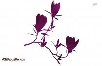 Tulip Flower Silhouette Art