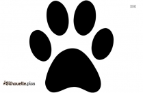 Cat Paw Print Silhouette Vector And Graphics