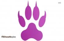 Tiger Footprint Silhouette Art