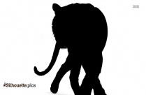 Tiger Running Silhouette Drawing