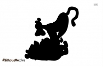 Winnie The Pooh Crying Silhouette Drawing