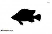 Tilapia Fish Silhouette Clipart