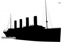 Oil Ship Silhouette Clipart