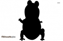 Toad Baby Silhouette Vector