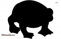 Dead Frog Symbol Silhouette