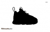 Toddler Basketball Shoes Silhouette Image And Vector