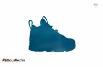 Toddler Basketball Shoes Silhouette Clip Art