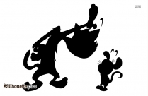 Tom And Jerry Silhouette Drawing