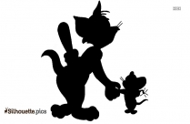 Jerry Mouse Silhouette Free Vector Art, Image