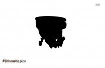 Black Baritone Horn Silhouette Image