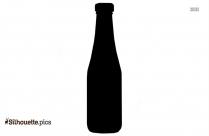 Beer Bottle Silhouette Image