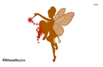 Flying Fairy Silhouette Image And Vector