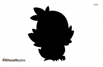 Black And White Baby Robin Silhouette